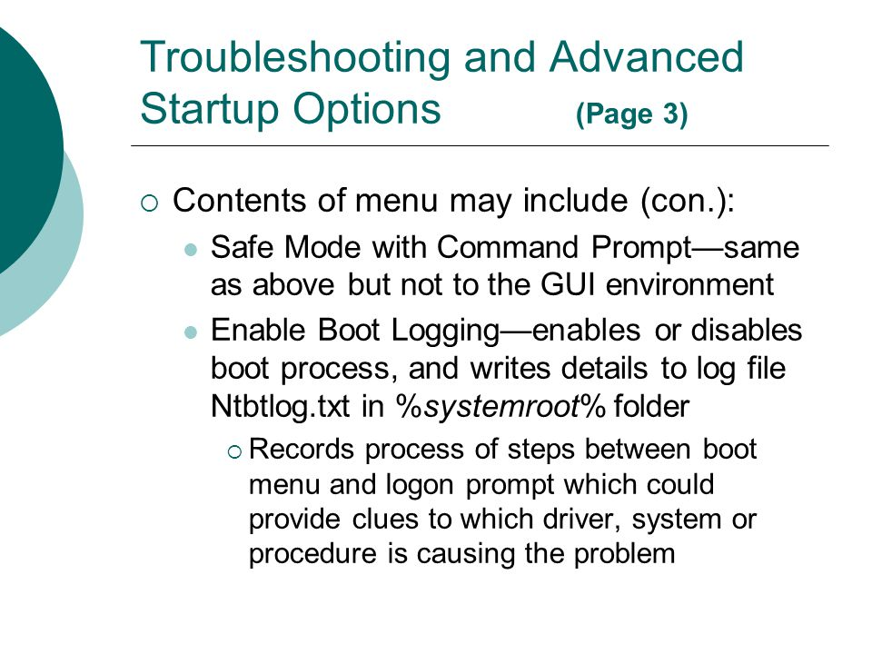 Troubleshooting and Advanced Startup Options (Page 3)