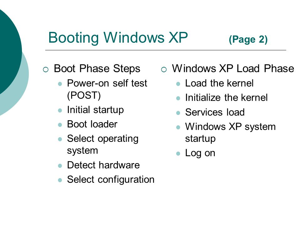Booting Windows XP (Page 2)