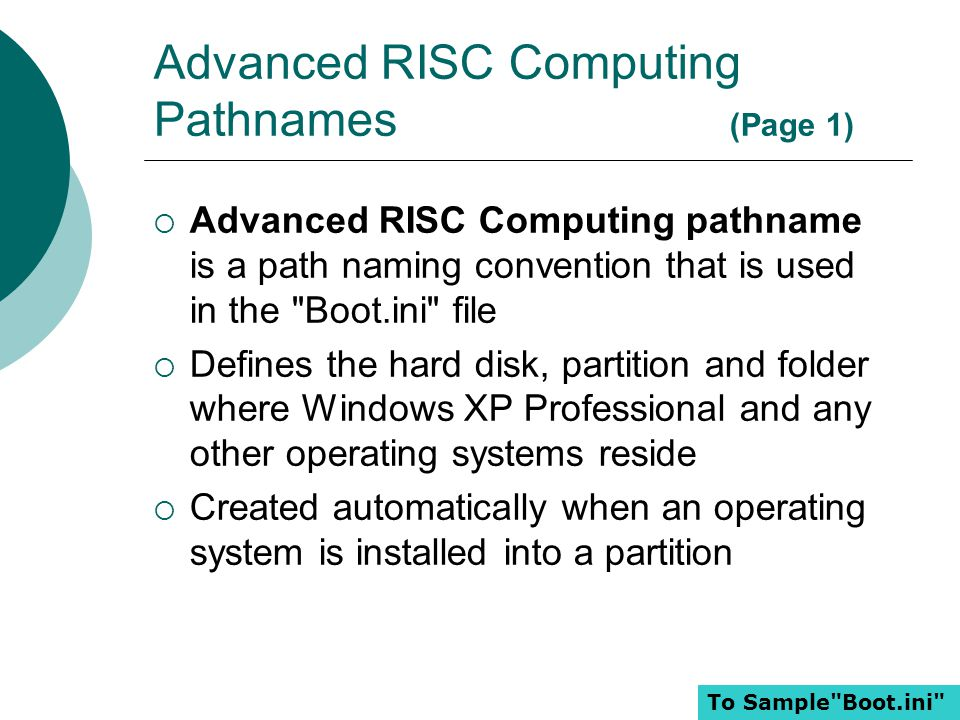 Advanced RISC Computing Pathnames (Page 1)