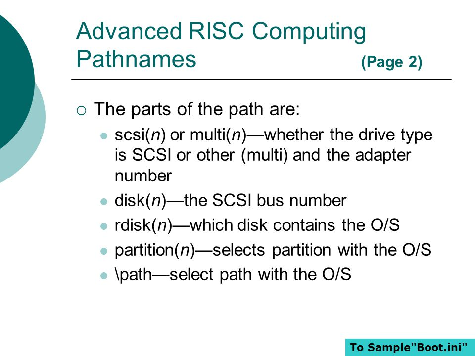 Advanced RISC Computing Pathnames (Page 2)