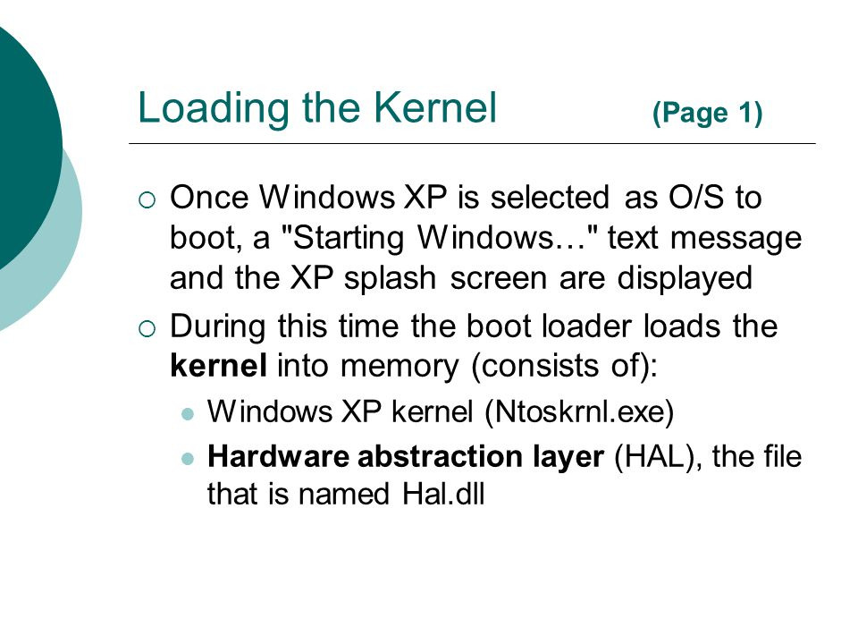Loading the Kernel (Page 1)