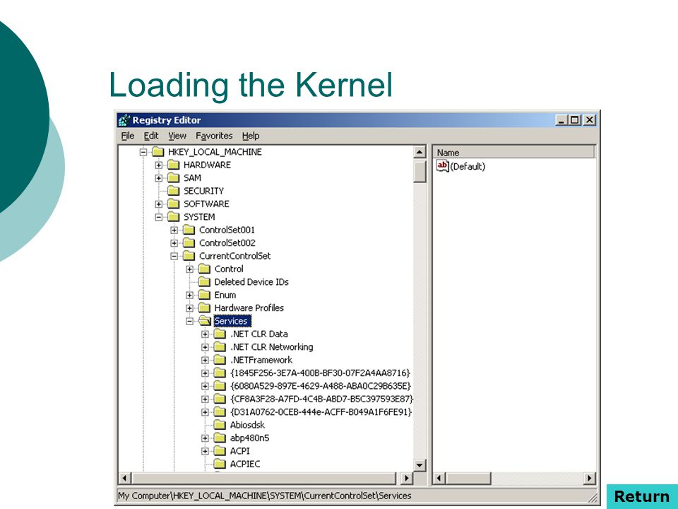 Loading the Kernel Return