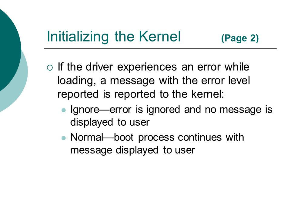 Initializing the Kernel (Page 2)