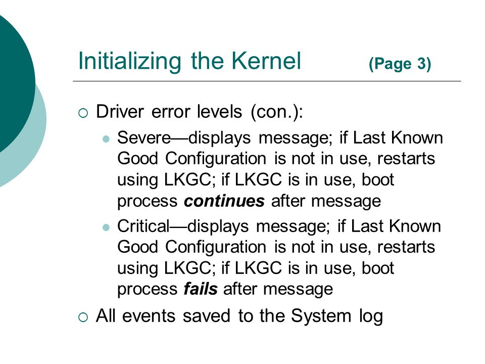 Initializing the Kernel (Page 3)