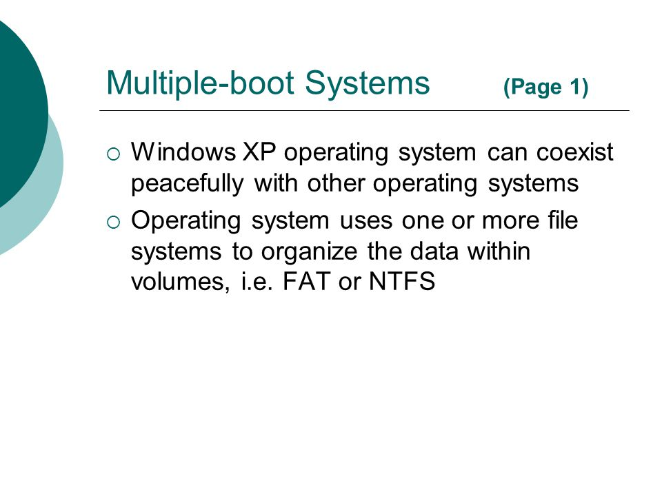 Multiple-boot Systems (Page 1)