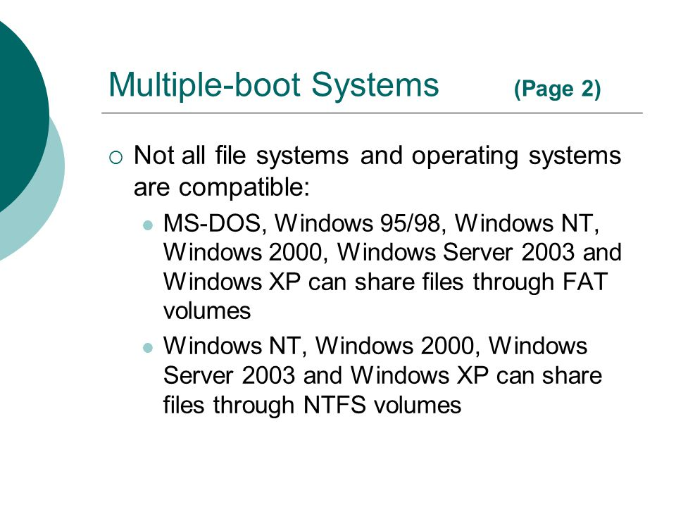 Multiple-boot Systems (Page 2)