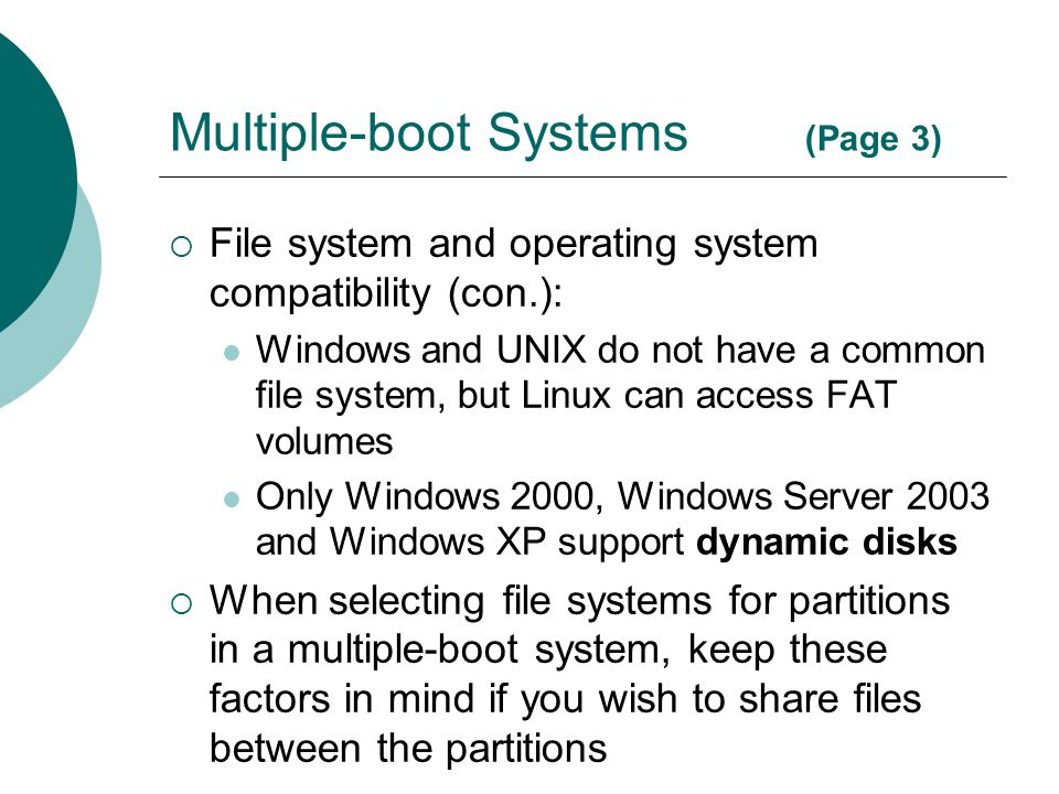 Multiple-boot Systems (Page 3)
