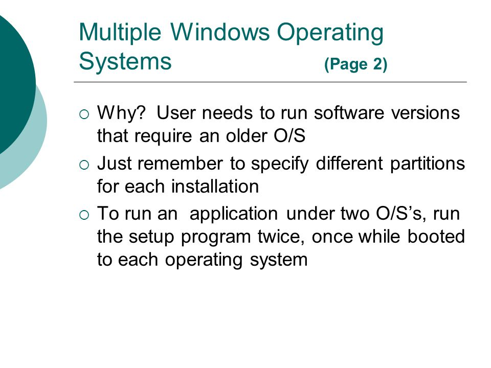 Multiple Windows Operating Systems (Page 2)