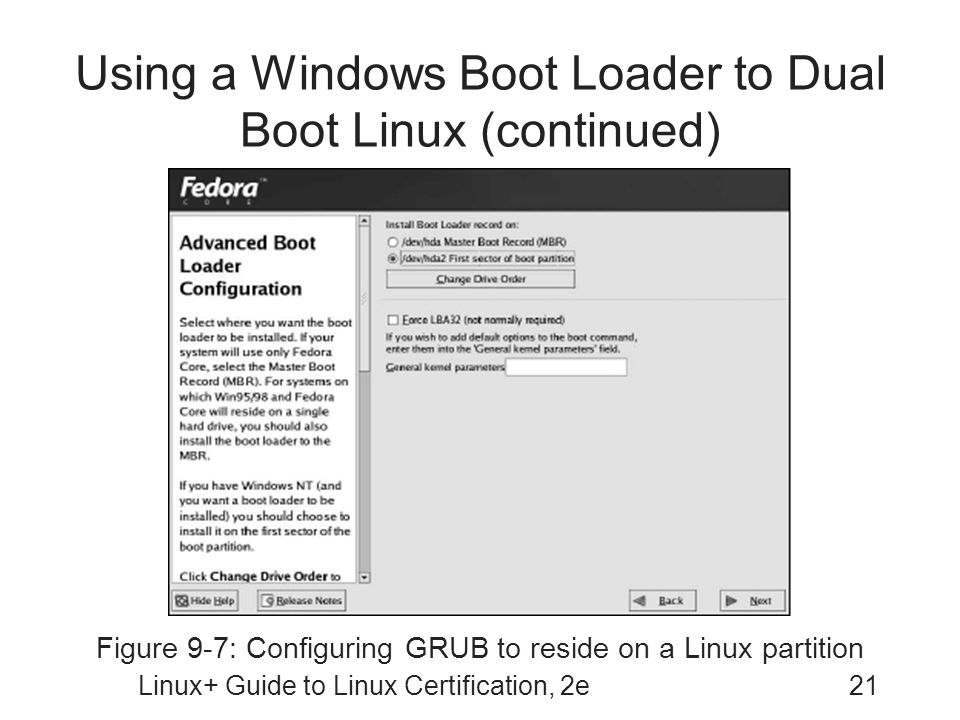 Using a Windows Boot Loader to Dual Boot Linux (continued)
