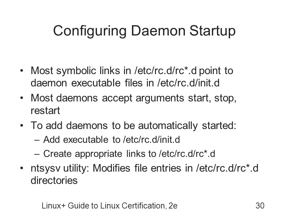 Configuring Daemon Startup