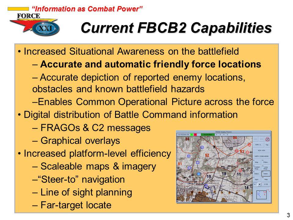 Current FBCB2 Capabilities