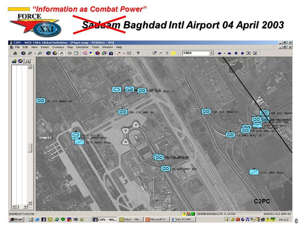 Sadaam Baghdad Intl Airport 04 April 2003