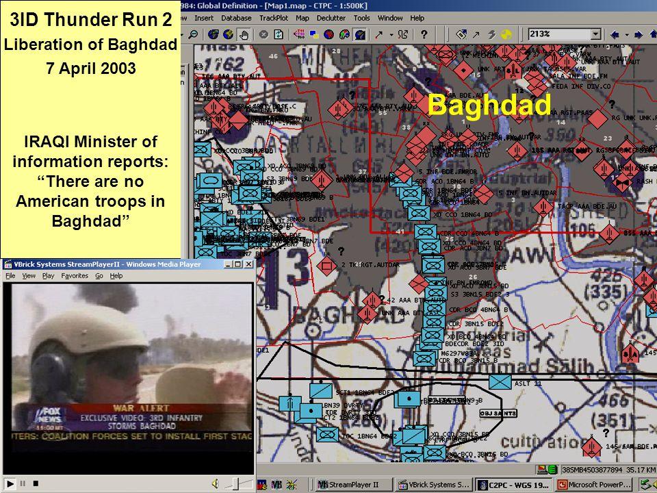 Baghdad 3ID Thunder Run 2 Liberation of Baghdad 7 April 2003