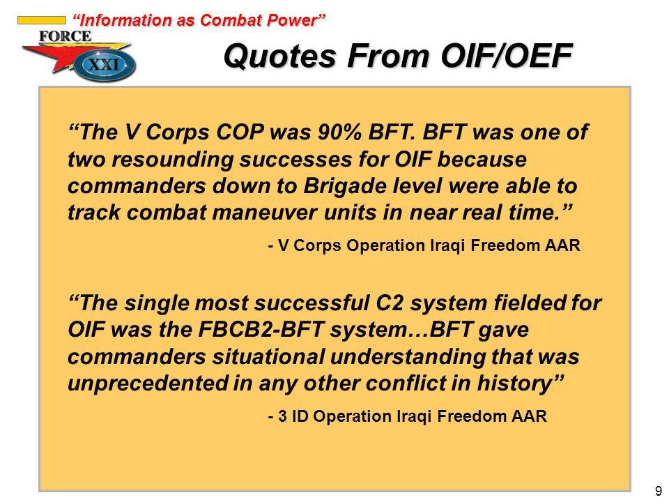 Quotes From OIF/OEF