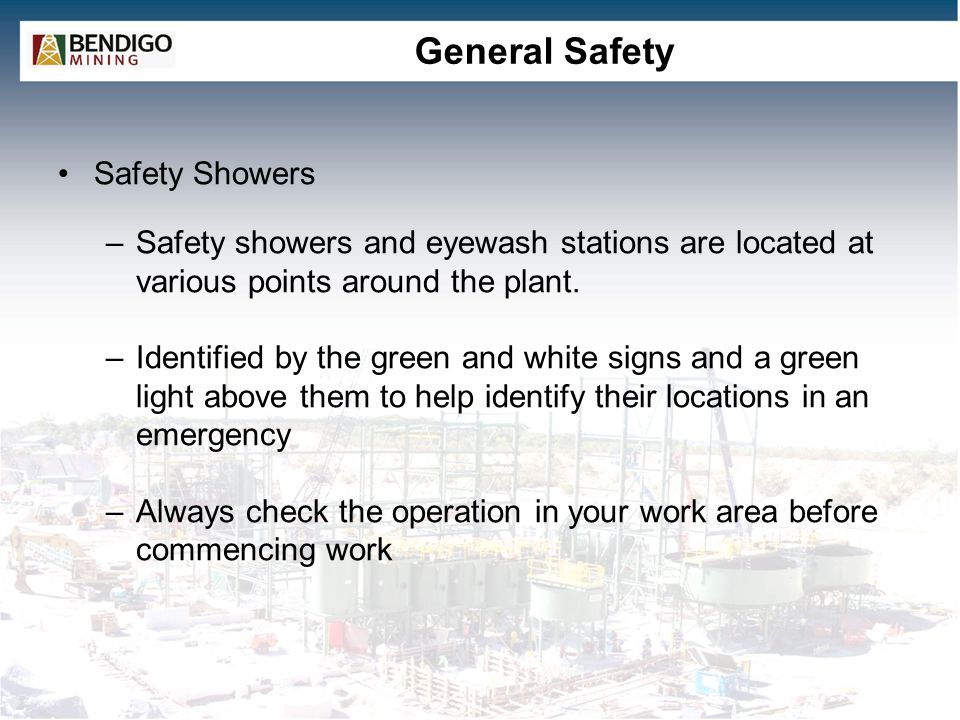 General Safety Safety Showers