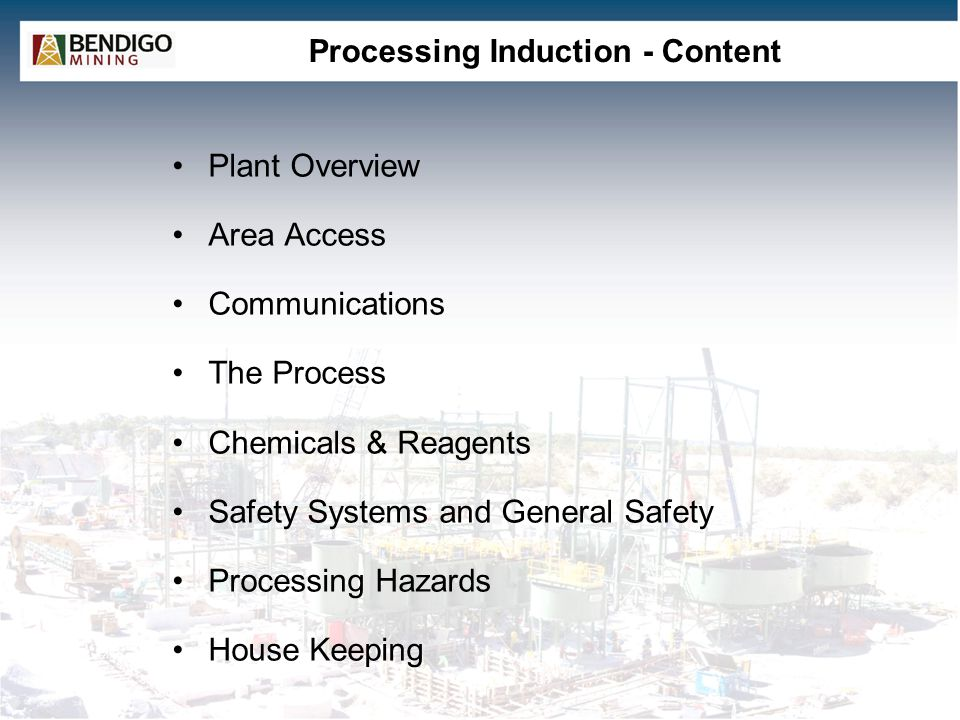 Processing Induction - Content