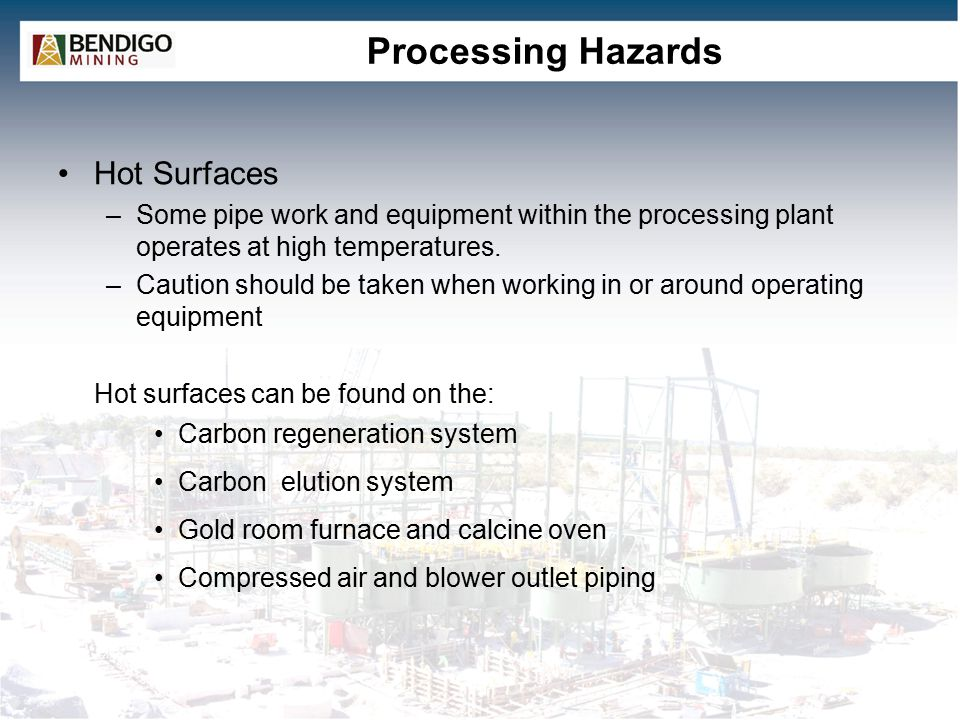 Processing Hazards Hot Surfaces