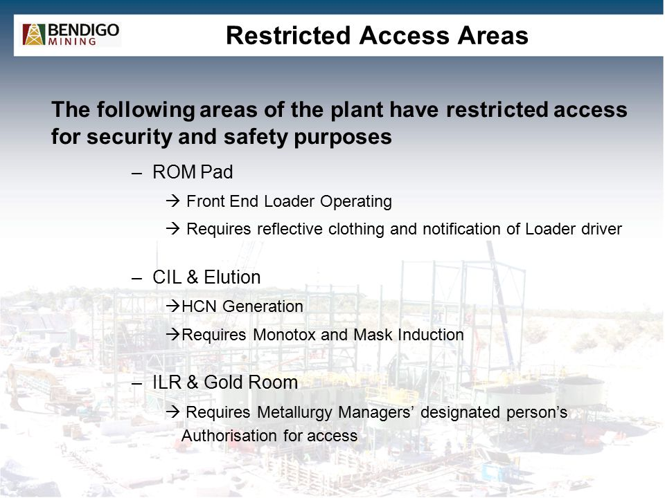 Restricted Access Areas