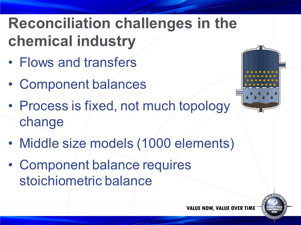 Reconciliation challenges in the chemical industry