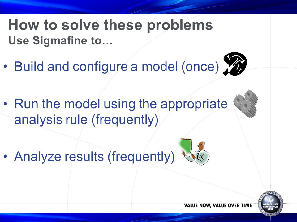 How to solve these problems Use Sigmafine to…