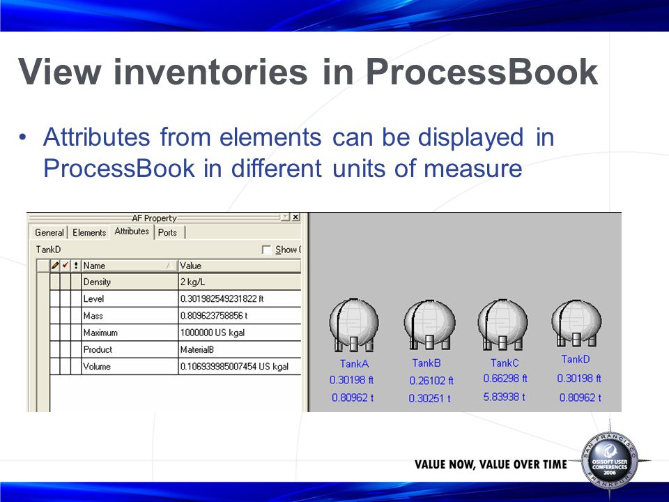 View inventories in ProcessBook
