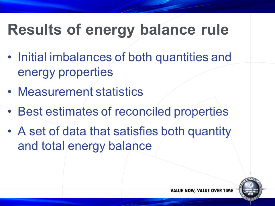 Results of energy balance rule