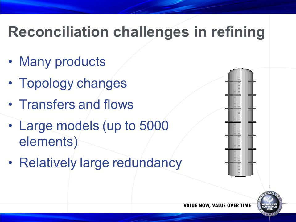 Reconciliation challenges in refining
