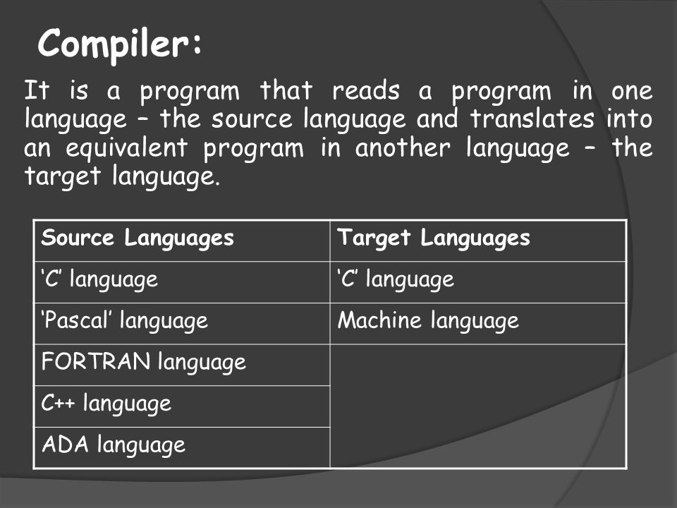 Compiler: