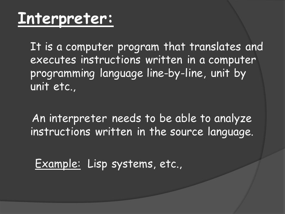 Interpreter: