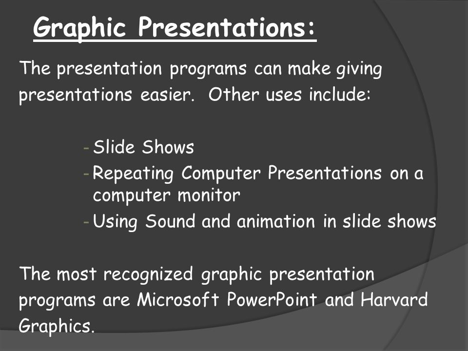 Graphic Presentations:
