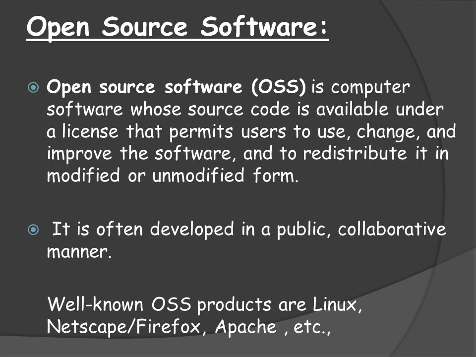 Open Source Software: