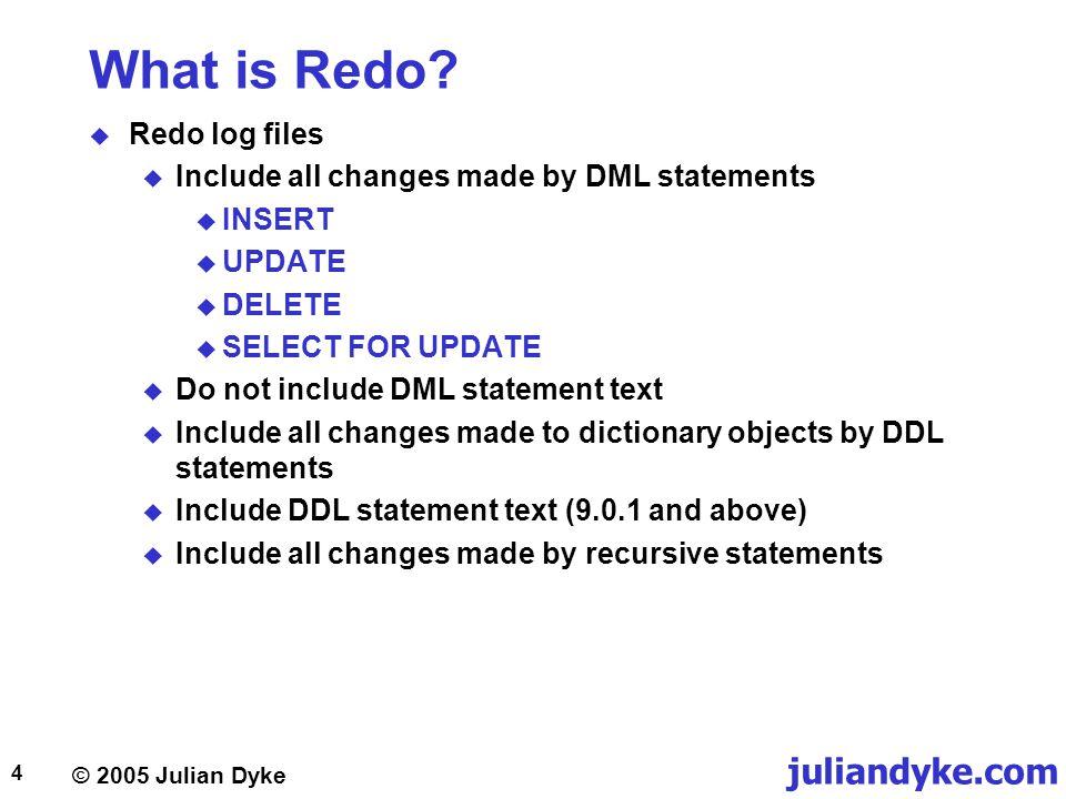 What is Redo Redo log files