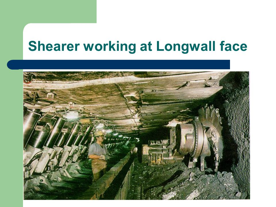 Shearer working at Longwall face