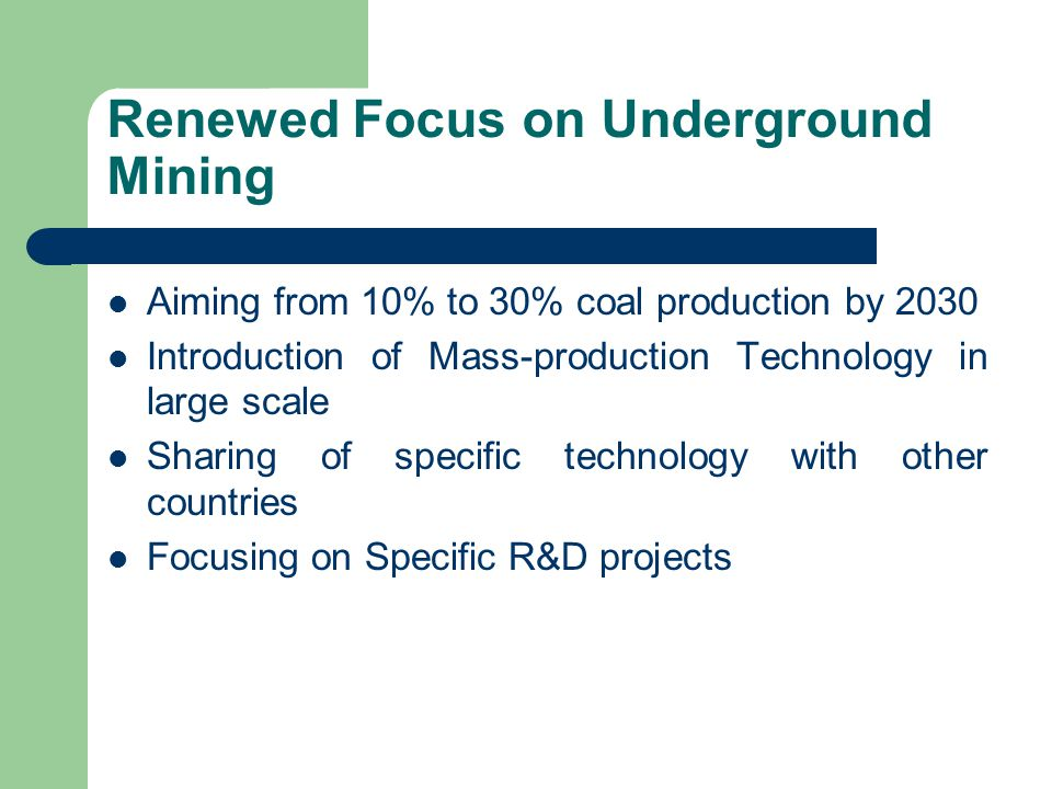 Renewed Focus on Underground Mining