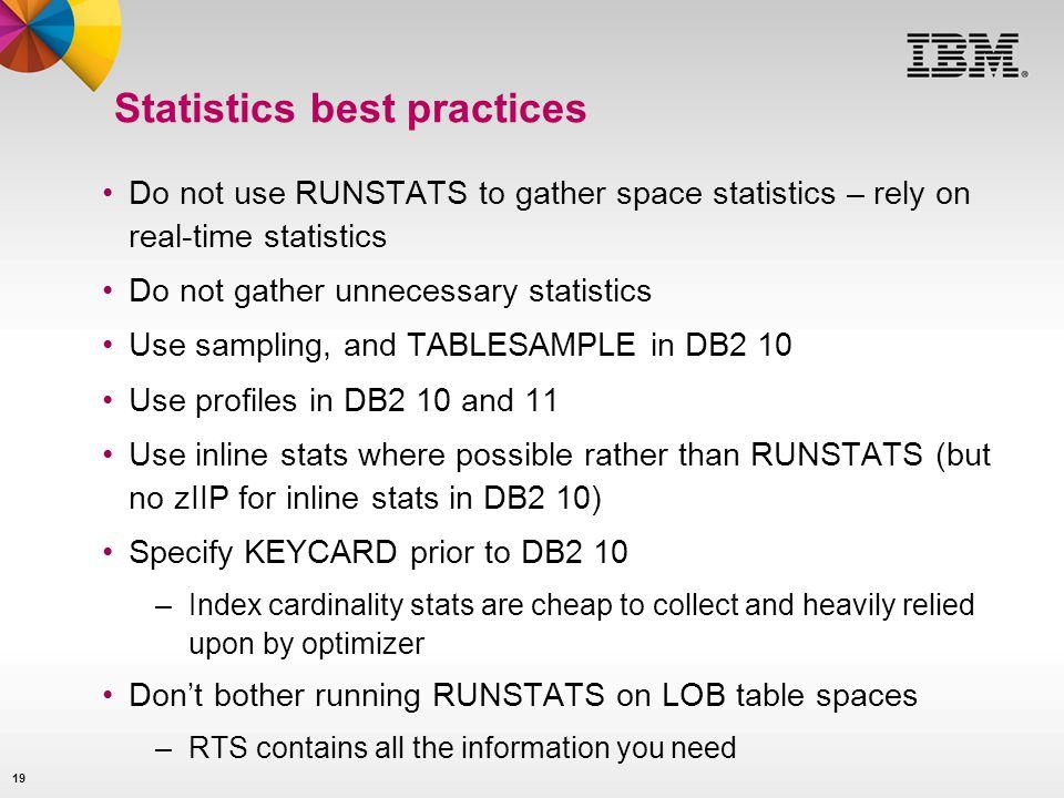 Statistics best practices