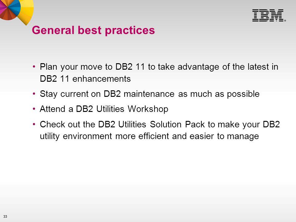 General best practices