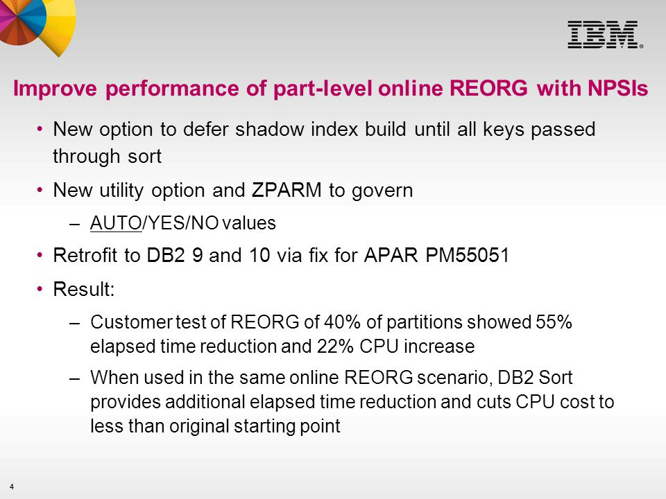 Improve performance of part-level online REORG with NPSIs