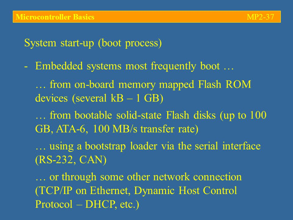 System start-up (boot process)