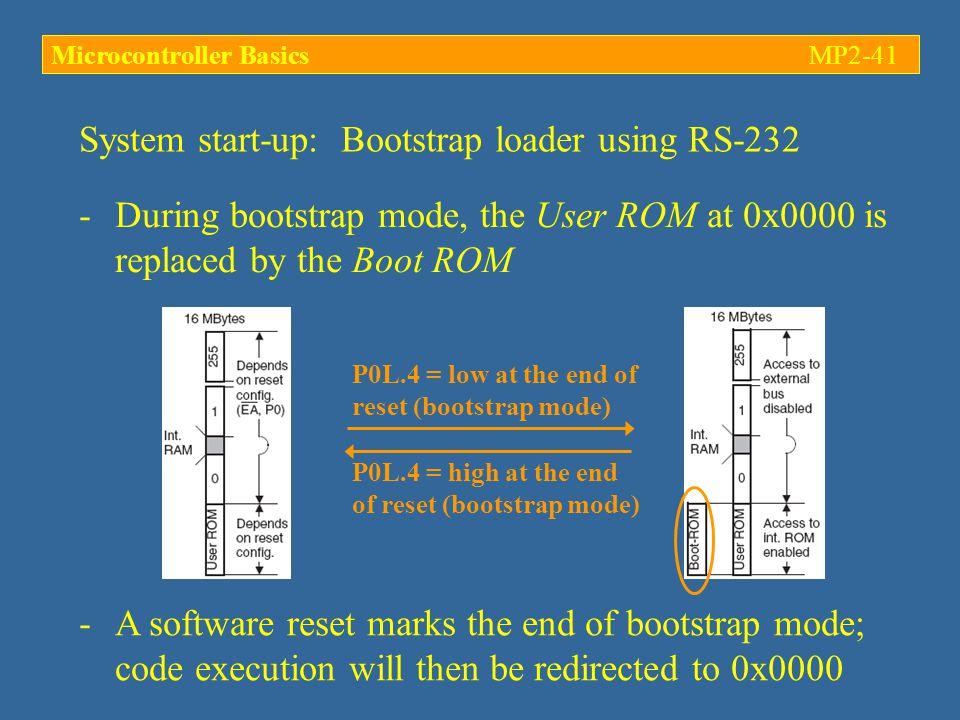 System start-up: Bootstrap loader using RS-232