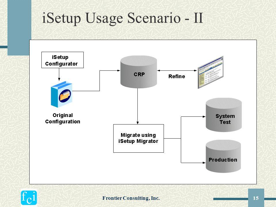 iSetup Usage Scenario - II