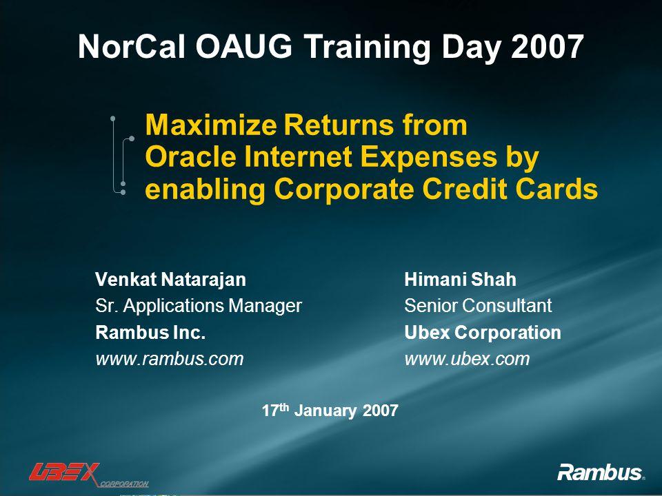 Venkat Natarajan Sr. Applications Manager Rambus Inc. www.rambus.com