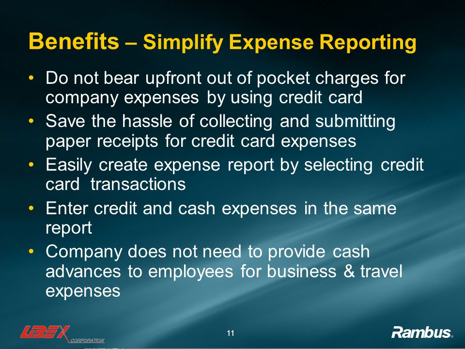 Benefits – Simplify Expense Reporting
