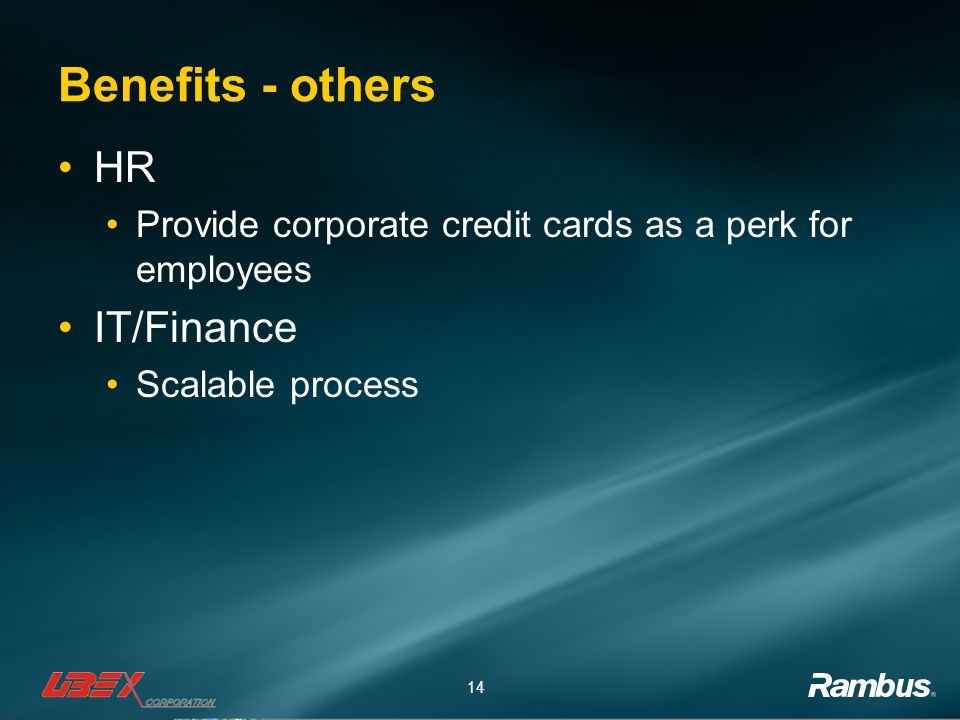 Benefits - others HR IT/Finance