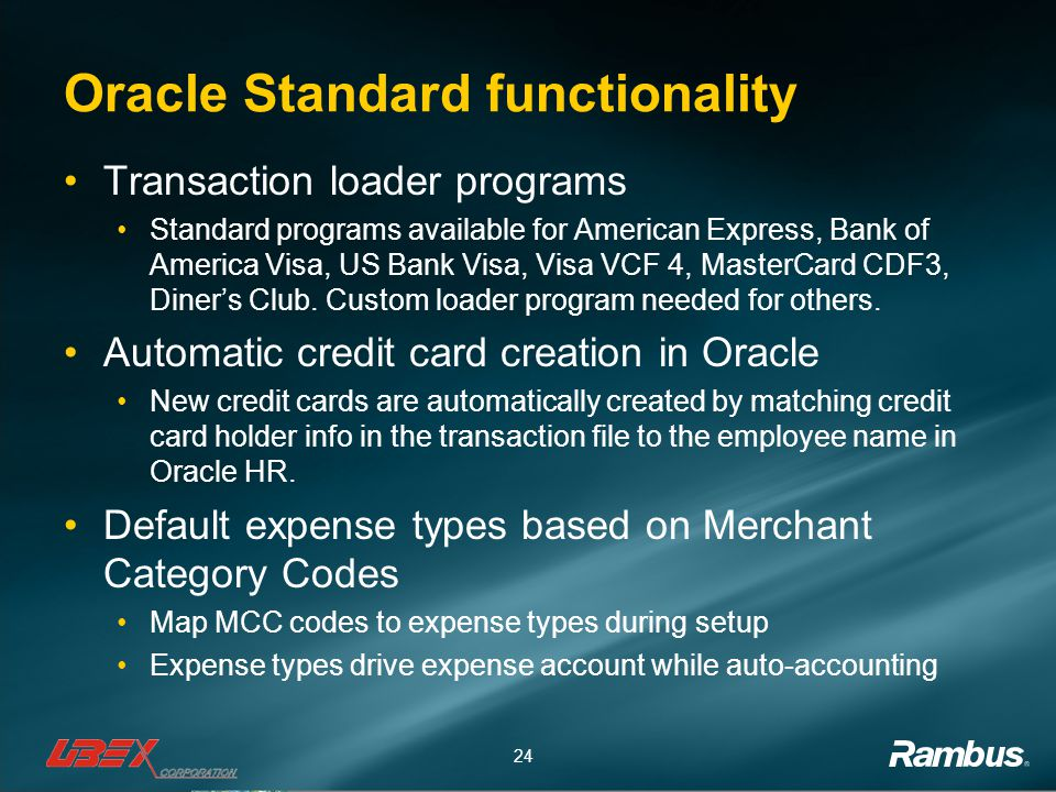 Oracle Standard functionality