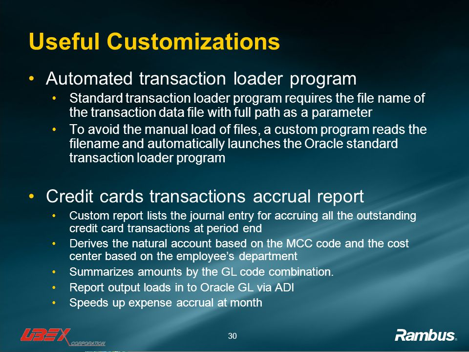 Useful Customizations