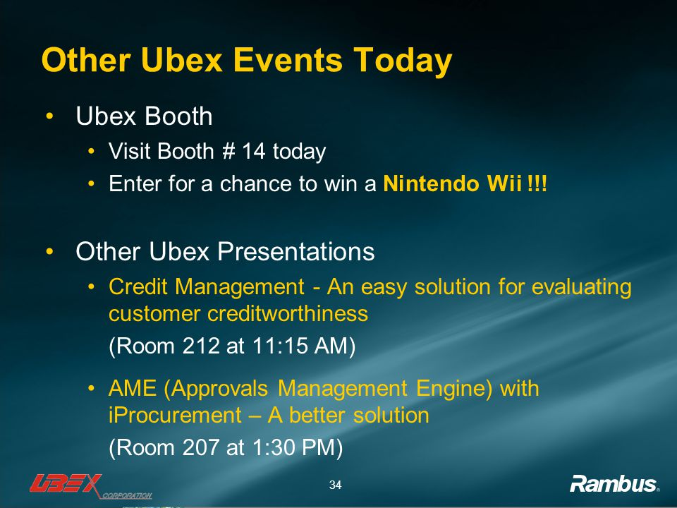Other Ubex Events Today