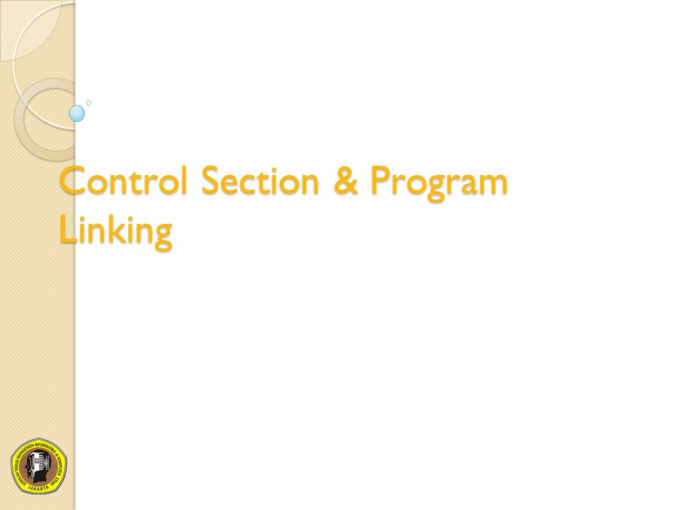 Control Section & Program Linking