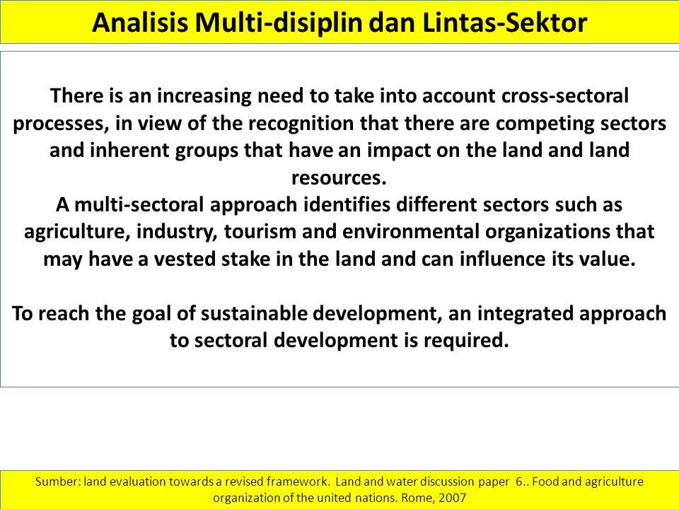 Analisis Multi-disiplin dan Lintas-Sektor