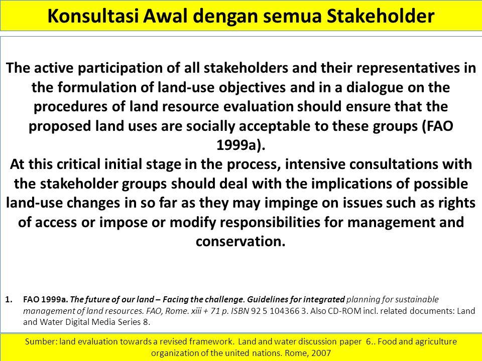 Konsultasi Awal dengan semua Stakeholder