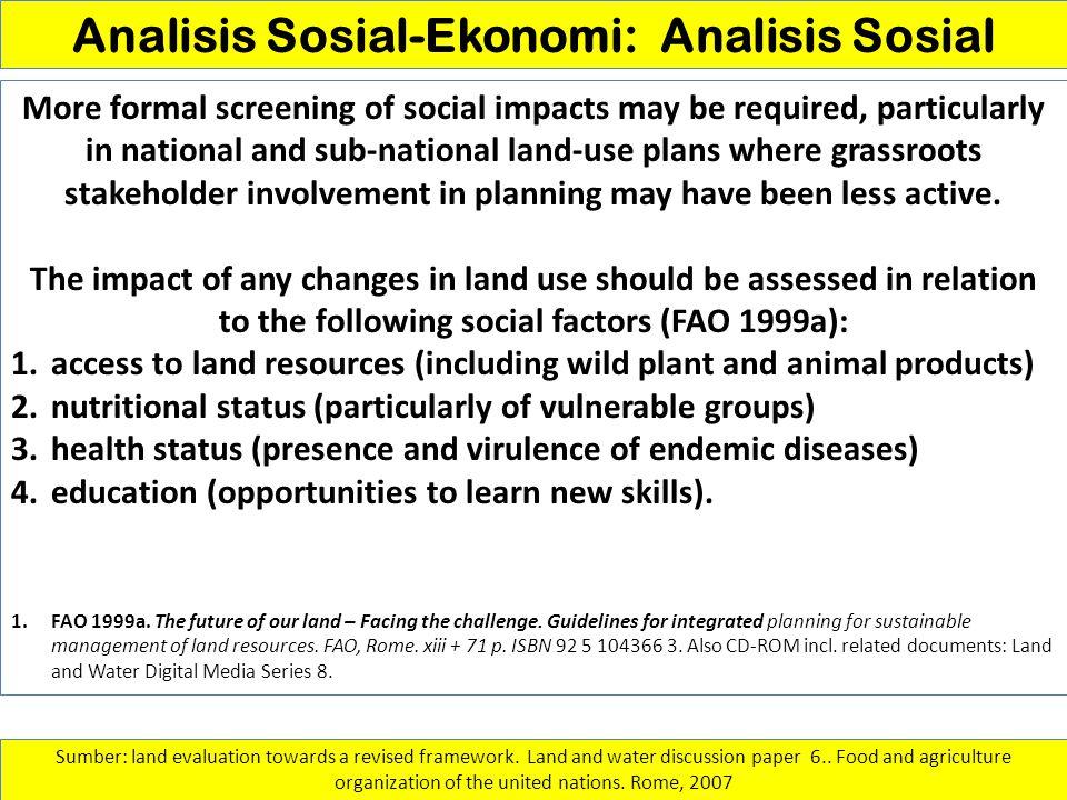 Analisis Sosial-Ekonomi: Analisis Sosial